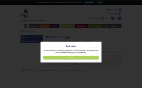 Screenshot of Login Page pharman.co.uk - Login - captured Jan. 27, 2016