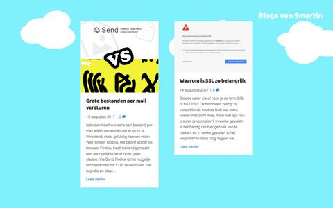 Screenshot of Blog smartin.nl - Blog - Smartin - captured Oct. 6, 2017