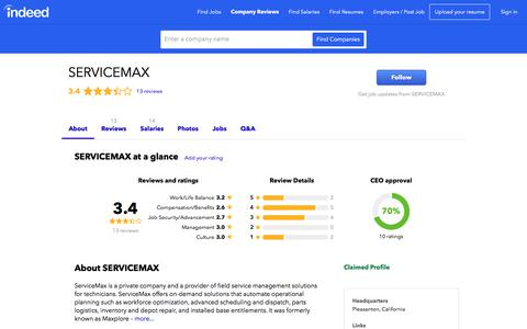 SERVICEMAX Careers and Employment | Indeed.com