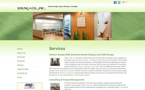 Screenshot of Services Page youngcoinc.net - Interior Design Services - Young Co Inc - captured Dec. 20, 2018