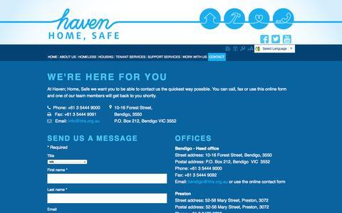 Screenshot of Contact Page lmhs.com.au - Contact Us - captured Nov. 2, 2014