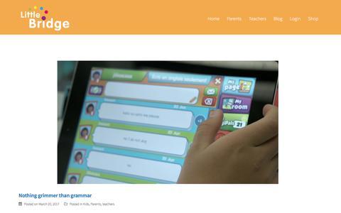 Screenshot of Blog littlebridge.com - Blog - Little Bridge - captured Aug. 23, 2017