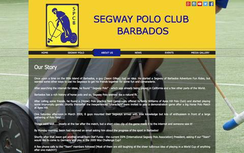 Screenshot of About Page segwaypoloclubbarbados.org - About Us - captured Feb. 27, 2017
