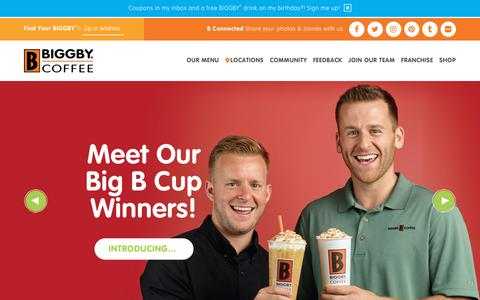 Screenshot of Home Page biggby.com - BIGGBY COFFEE ® | We exist to love people! | Coffee Near You - captured Oct. 9, 2017
