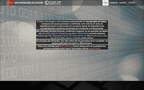 Screenshot of Home Page recuperacao-de-dados.eti.br - Hosco Tecnologia: Recuperação de Dados em HD, RAID, NAS, etc. - captured Sept. 29, 2018