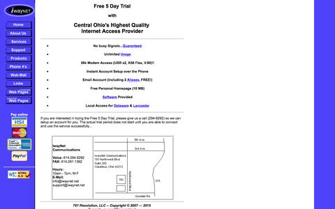 Screenshot of Trial Page chcv.com - IwayNet Free Trial - captured Oct. 20, 2016
