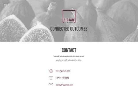 Screenshot of Contact Page figjamco.com - Contact – Figjam - captured Oct. 13, 2017