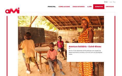 Screenshot of Home Page ami.org.pt - AMI - Assistência Médica Internacional - AMI - captured Nov. 19, 2016