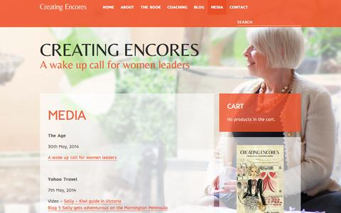 Screenshot of Press Page creatingencores.co - Media - Creating Encores - captured Oct. 28, 2014