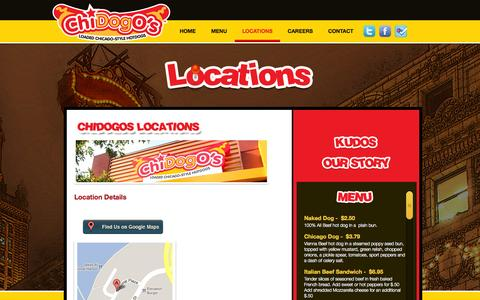 Screenshot of Locations Page chidogos.com - Locations | Chidogos - captured Sept. 29, 2014