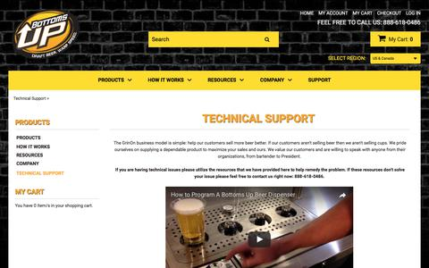 Screenshot of Support Page bottomsupbeer.com - Technical Support - captured June 23, 2017