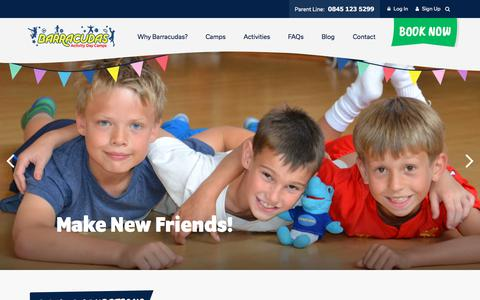 Screenshot of Terms Page barracudas.co.uk - Terms & Conditions | Barracudas Activity Day Camps - captured Jan. 1, 2018