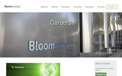 Screenshot of Jobs Page bloomenergy.com - Careers | Bloom Energy - captured July 13, 2018