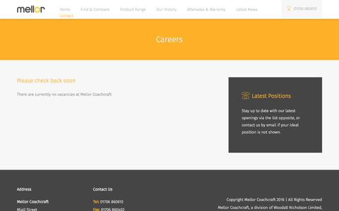 Screenshot of Jobs Page mellor-coachcraft.co.uk - Careers Archive | Mellor Coachcraft - captured Oct. 10, 2017