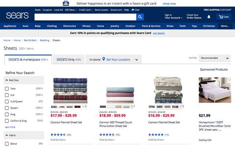 Bed Sheets | Sheet Sets - Sears