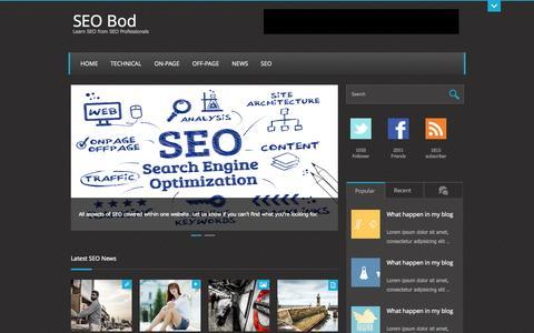 Screenshot of Home Page seo-bod.co.uk - SEO Advice, Learn SEO from SEO Professionals - SEO Bod - captured Jan. 27, 2015