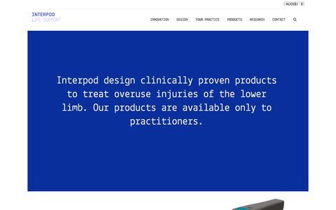 Screenshot of Home Page interpod.com.au - Interpod | Orthotics designed and developed by Podiatrists - Interpod - captured Oct. 15, 2017