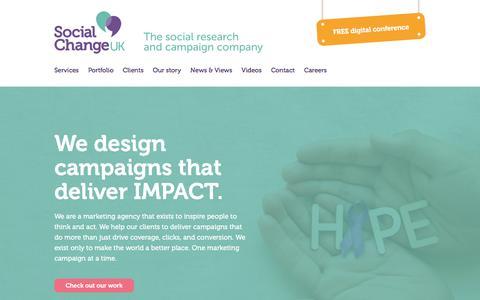 Screenshot of Home Page social-change.co.uk - Social Change UK :: Inspiring change in people and communities - captured Nov. 30, 2016