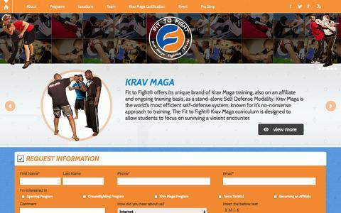 Screenshot of Home Page fit-to-fight.com - Krav Maga Instructors - Krav Maga Training   Fit to Fight - captured Jan. 22, 2015