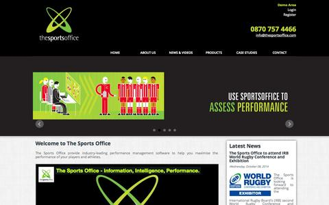 Screenshot of Site Map Page thesportsoffice.com - Sports Performance Management Software by The Sports Office - captured Oct. 9, 2014