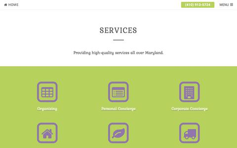 Screenshot of Services Page typeahome.com - Services | Type A Home - captured Oct. 24, 2017