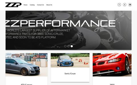 Screenshot of Home Page zzperformance.com - ZZPerformance - captured Sept. 19, 2018