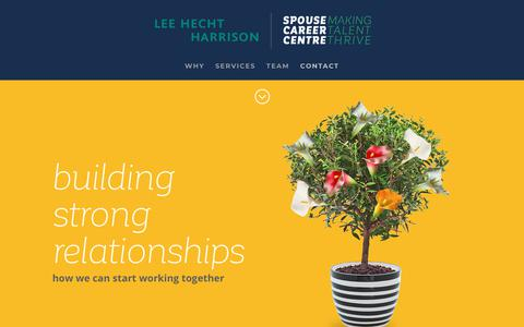 Screenshot of Contact Page spousecareercentre.com - Spouse Career Centre | CONTACT - captured Nov. 7, 2018