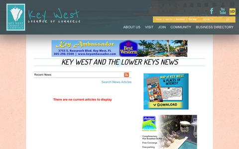 Screenshot of Press Page keywestchamber.org - Key West and the Lower Keys  News | Key West and the Lower Keys | Key West Chamber of Commerce | Key West, FL - captured March 5, 2016