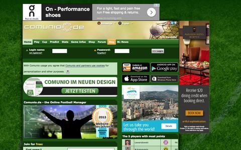 Screenshot of Home Page comunio.de - COMUNIO football manager, soccer manager, fantasy football, Bundesliga manager - captured Oct. 24, 2015