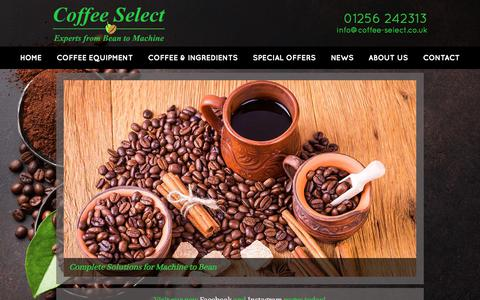 Screenshot of Home Page coffee-select.co.uk - Coffee Select Ltd – Commercial Coffee Machines & Coffee Equipment - captured July 20, 2018