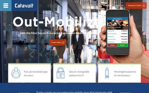 Screenshot of Home Page catavolt.com - Catavolt Mobile App Development: Enterprise Mobility - captured June 16, 2015