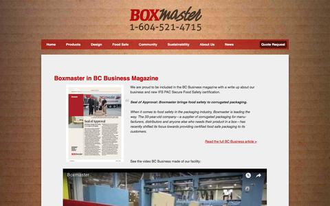 Screenshot of Press Page boxmaster.com - News - Boxmaster - captured Aug. 1, 2018