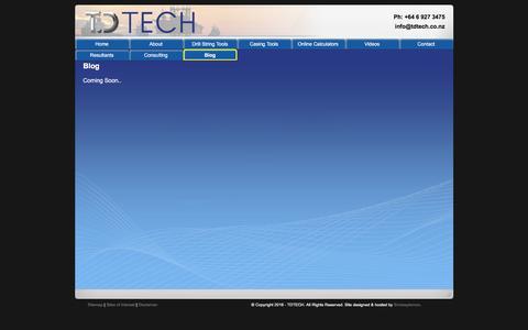 Screenshot of Blog tdtech.co.nz - TD Tech - Blog - captured Nov. 29, 2016