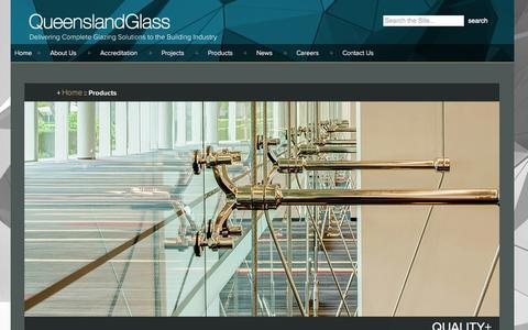 Screenshot of Products Page queenslandglass.com.au - Products Archive - Queensland Glass - captured Oct. 28, 2014