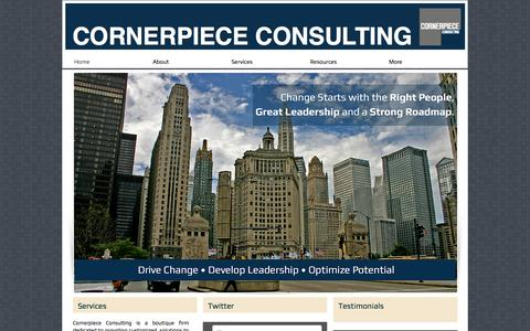 Screenshot of Home Page cornerpiececonsulting.com - Cornerpiece Consulting - Business and Human Capital Consulting - captured May 22, 2017