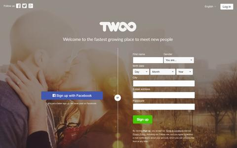 Screenshot of Home Page twoo.com - Twoo - Meet New People - captured July 3, 2015