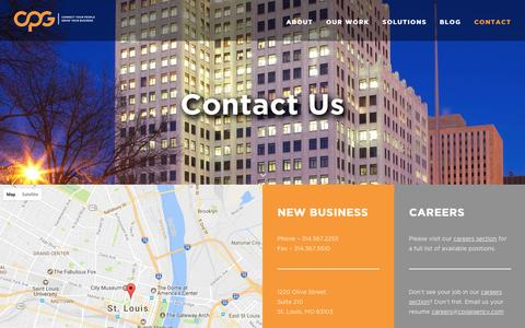 Screenshot of Contact Page cpgagency.com - Contact Us   Corporate Event & Engagement Agency   CPG - captured May 4, 2017