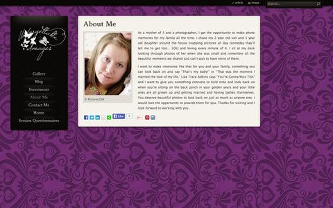 Screenshot of About Page unforgettableimages.ca - Unforgettable Images About Me | Unforgettable Images - captured Oct. 27, 2014