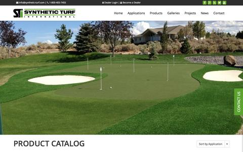 Screenshot of Products Page synthetic-turf.com - Products Archive - Synthetic Turf International - captured Dec. 2, 2016
