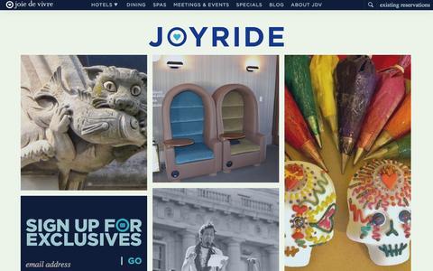Screenshot of Blog jdvhotels.com - Joy Ride   A Joie de Vivre Blog - captured Oct. 31, 2014