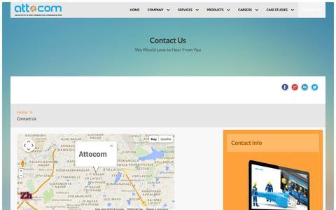 Screenshot of Contact Page attocom.com - Contact Us - captured Oct. 29, 2014