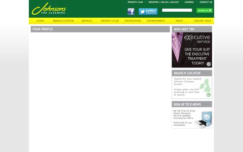 Screenshot of Login Page johnsoncleaners.com - Login   Johnson Cleaners - captured Sept. 19, 2014