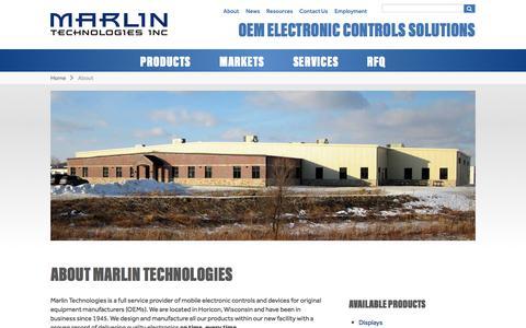 Screenshot of About Page marlintech.com - About Marlin Technologies - captured Oct. 17, 2017