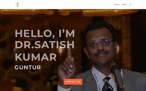 Screenshot of Home Page drsatish.in - Dr. Satish | Plastic Surgeon - captured Aug. 14, 2019