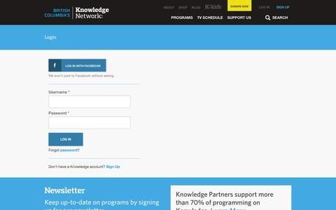 Screenshot of Login Page knowledge.ca - Login | Knowledge.ca - captured Oct. 6, 2014