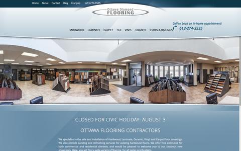 Screenshot of Home Page ottawadiamondflooring.com - Ottawa Flooring - Flooring Store in Ottawa - Ottawa Diamond Flooring - captured Aug. 16, 2015
