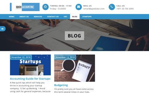 Screenshot of Blog qasdubai.com - Blog - Quick Accounting Services Dubai - captured Dec. 16, 2018