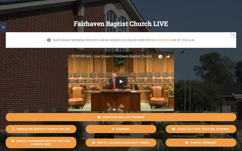 Screenshot of Press Page fairhavenbaptist.org - Media – Fairhaven Baptist Church - captured Oct. 10, 2018