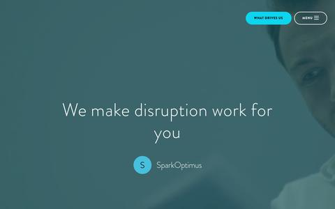 SparkOptimus | We make digital disruption work for you