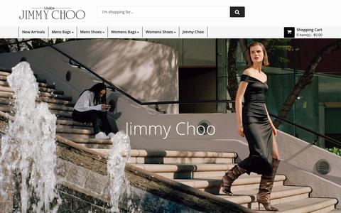 Screenshot of Home Page usdce.org - Usdce > Cheap Jimmy Choo Bags & Shoes from U.S. Store online - captured Oct. 18, 2018
